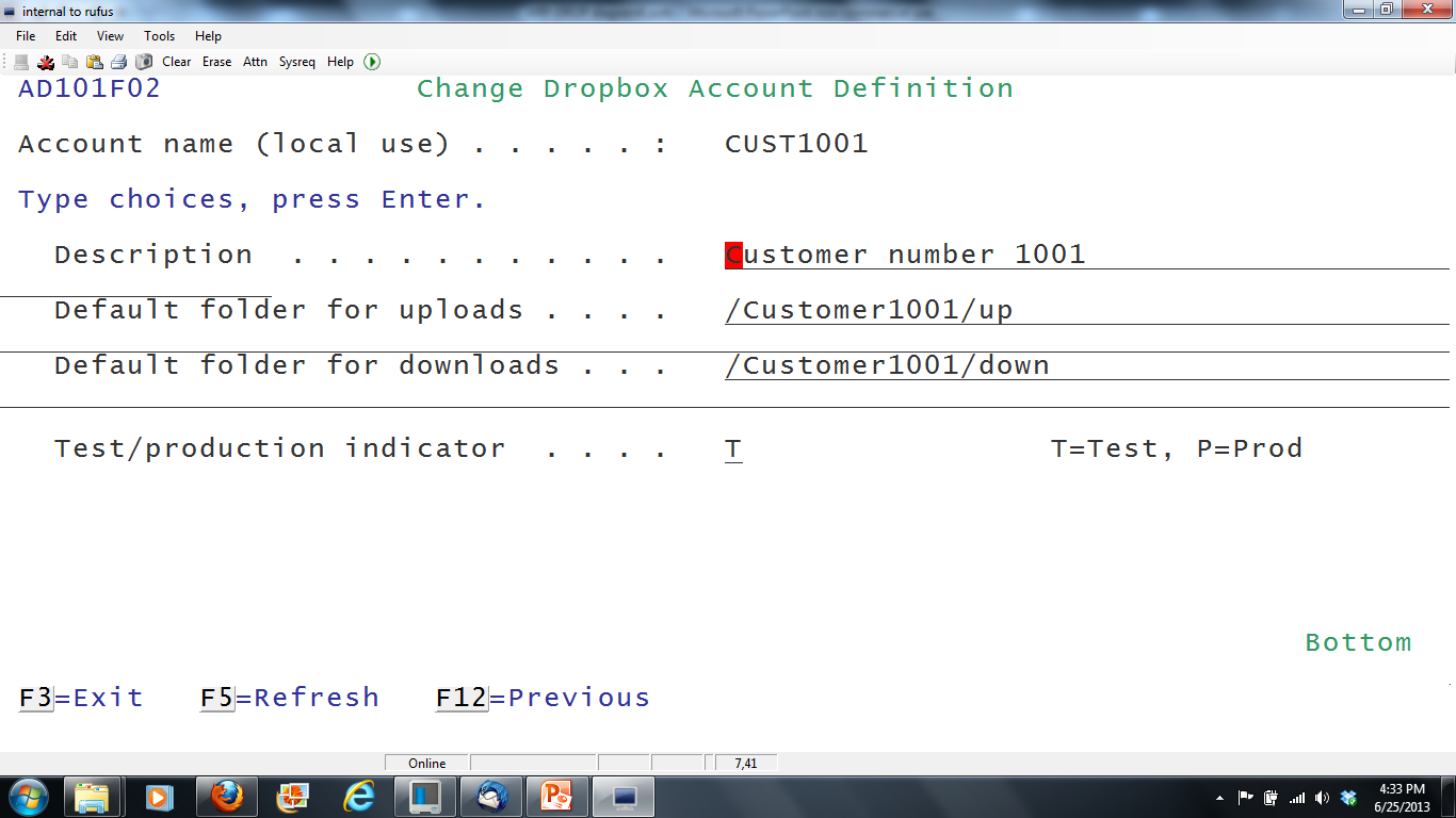 ARP-DROP Link IBM i to Dropbox account
